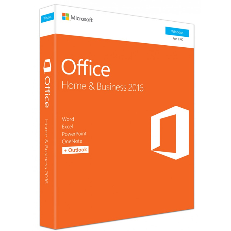 Microsoft Office Home and Business 2016 Russian 32/64-bit Russia Only DVD No Skype P2