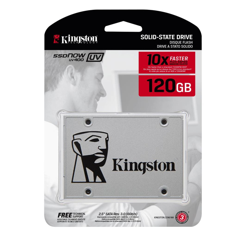 Накопитель Kingston SSD 120GB UV400 Series SUV400S37/120G SATA3.0