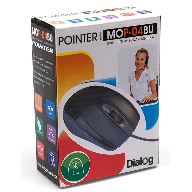 Мышь Dialog Pointer MROP-01U USB Black